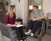 Kaylene meets with support worker