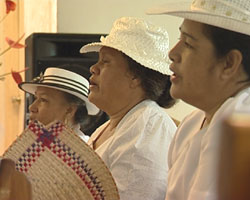 Samoan women in church